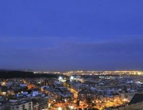Vista Nocturna De Castelldefels Desde Castillo